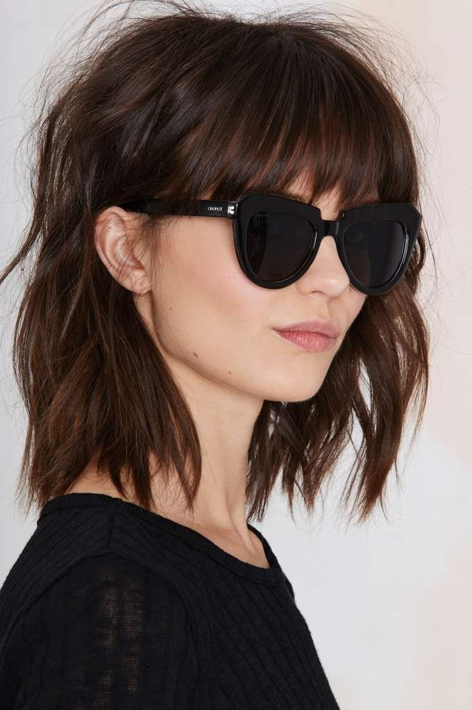 Komono Stella Shades | Accessorize | Pinterest | Lob, Bangs And Regarding Accessorize Curled Look Ponytail Hairstyles With Bangs (View 7 of 25)