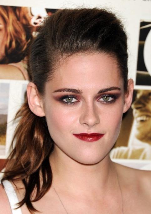 Kristen Stewart Ponytail Hairstyles – Popular Haircuts With Messy Waves Ponytail Hairstyles (View 21 of 25)