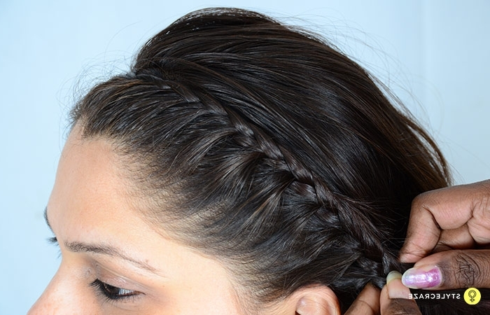 Lace Braid Picture Guide – A Stepstep Tutorial With Regard To Messy Pony Hairstyles With Lace Braid (View 9 of 25)