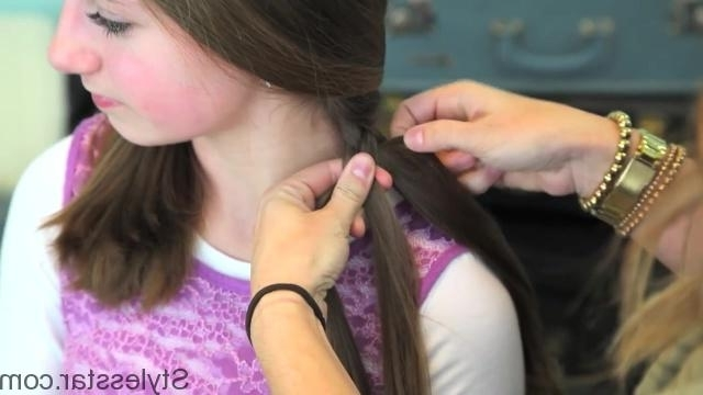 Ladder Braid Side Ponytail Hairstyles | Stylesstar ® Regarding Ladder Braid Side Ponytail Hairstyles (View 12 of 25)