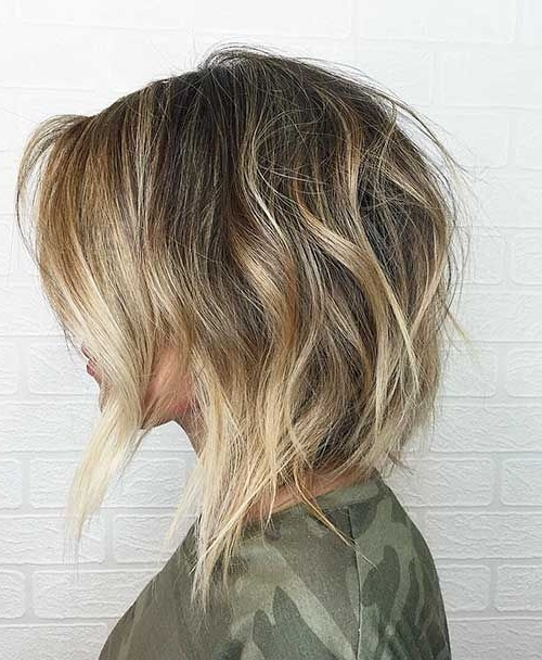 Latest Short Choppy Haircuts For Textured Style – Love This Hair Within Chamomile Blonde Lob Hairstyles (View 21 of 25)
