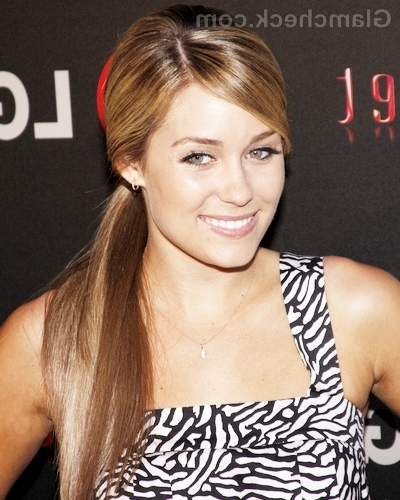 Lauren Conrad Hairstyle: Side Swept Ponytail Pertaining To Side Swept Pony Hairstyles (View 17 of 25)