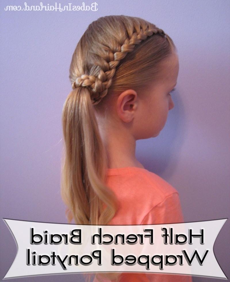 Lauren Conrad Inspired – Half French Braid Wrapped Ponytail – Babes Within Half French Braid Ponytail Hairstyles (View 21 of 25)