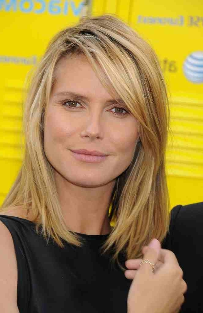 Layered Haircuts For Shoulder Length Hair – Hair World Magazine With Regard To Blonde Lob Hairstyles With Sweeping Bangs (View 17 of 25)
