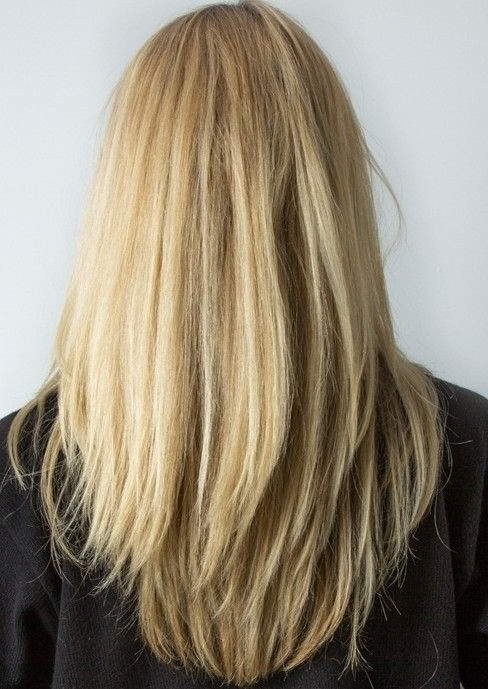 Layered Long Straight Blonde Hairstyle For Women | Hair | Pinterest Intended For Brown Blonde Layers Hairstyles (View 3 of 25)