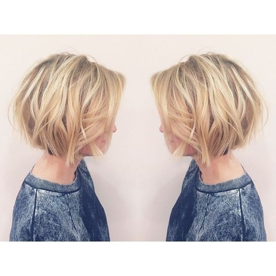 Layered, Short Bob Haircut – Balayage Short Hairstyles For Women Regarding Recent Balayage Pixie Hairstyles With Tiered Layers (View 4 of 25)