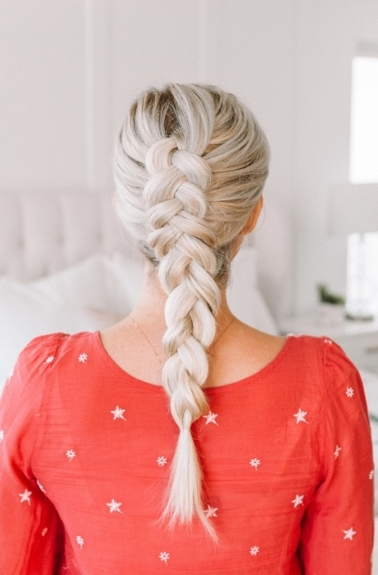 Learn How To Dutch Braid For Beginners! – Twist Me Pretty Throughout Messy Dutch Braid Ponytail Hairstyles (View 20 of 25)