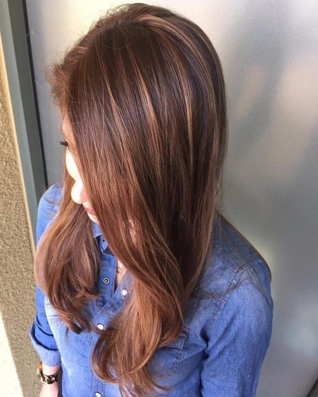 Light Brown Hair Color Ideas For 2017 – Best Hair Color Ideas Regarding Light Copper Hairstyles With Blonde Babylights (View 11 of 25)