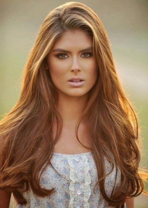 Light Brown Long Hairstyles With Blonde Highlights | Full Dose For Light Brown Hairstyles With Blonde Highlights (View 10 of 25)