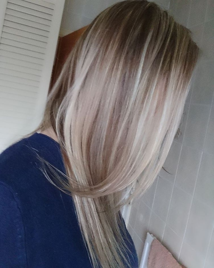 Light Pearl Blonde Highlights & Dark Blonde All Over Colour (View 15 of 25)