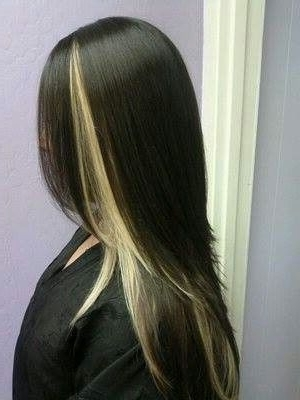 Like The One Blonde Streak Showing On Top | Not So Golden Locks For Dark Locks Blonde Hairstyles With Caramel Highlights (View 23 of 25)