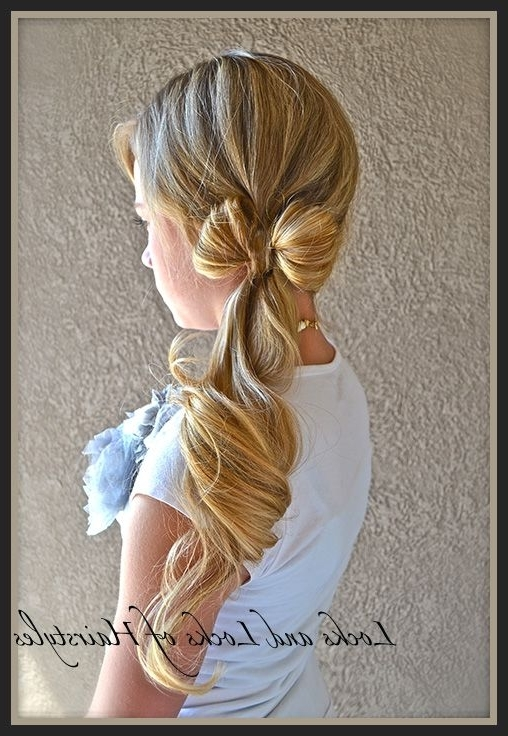 Locks And Locks Of Hair Styles Dozens Of Cute Hair Styles With The Inside Bow Braid Ponytail Hairstyles (View 19 of 25)