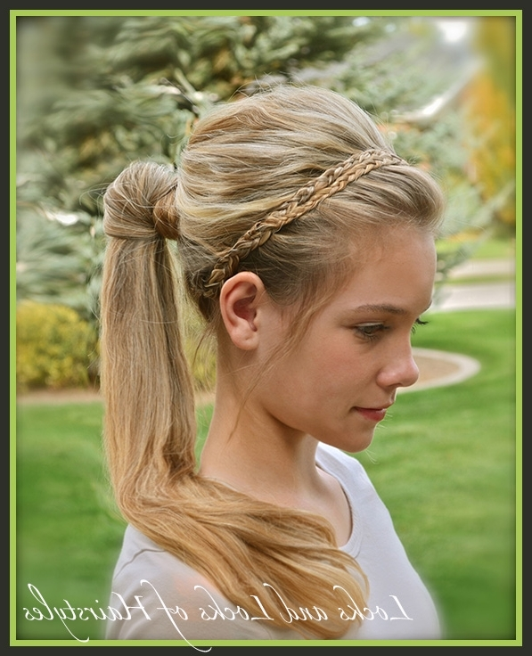 Locks And Locks Of Hairstyles: Quick And Easy Video Tutorials Intended For Braided Headband And Twisted Side Pony Hairstyles (View 20 of 25)