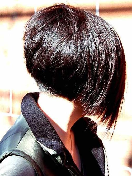 Long Angled Haircut With Bangs Angled Bob Hairstyles In Current Angled Pixie Bob Hairstyles With Layers (View 21 of 25)