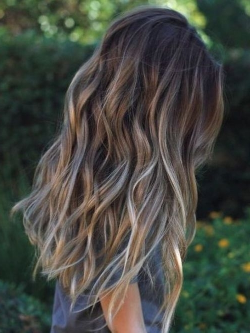 Long Ash Blonde Ombre Brown Hair Inside Ash Blonde Half Up Hairstyles (View 19 of 25)