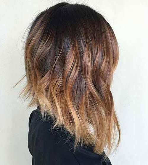 Long Bob (Lob) Hairstyles | Love Ambie Pertaining To Brown Blonde Balayage Lob Hairstyles (View 20 of 25)
