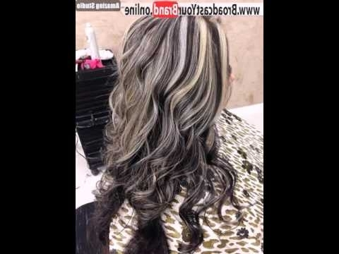 Long Brown Hairstyle With Ash Blonde Highlights – Youtube With Regard To Light Brown Hairstyles With Blonde Highlights (View 17 of 25)