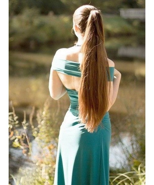 Long Brown High Ponytail Hairstyles. | Short Hairstyles (View 23 of 25)