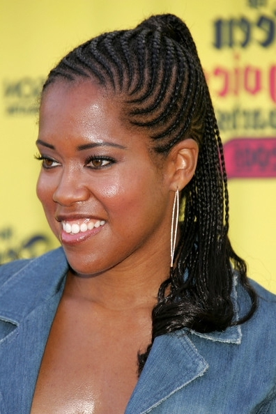Long Cornrow Ponytail Hairstyles Intended For Cornrows Hairstyles For Long Ponytail (View 14 of 25)