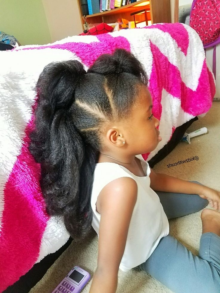 Long Faux Hawk Ponytails. Kid Natural Hair Style (View 21 of 25)