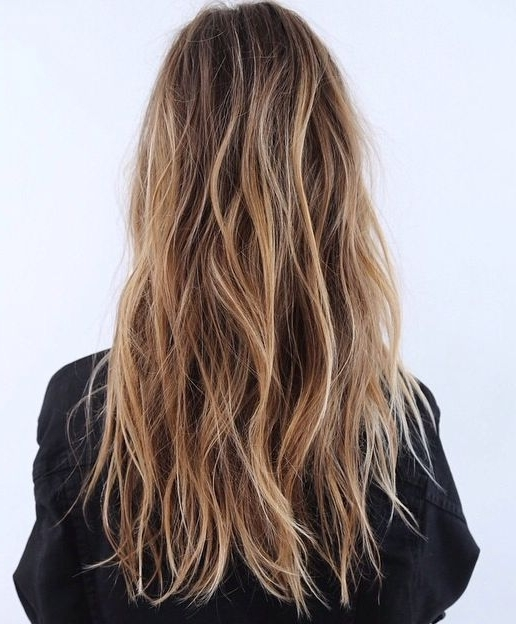 Long Hair, Blonde Highlights, Loose Beachy Waves (View 23 of 25)