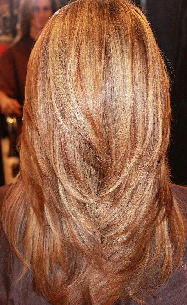 Long Layers, Red, Blonde, And Golden Highlights, Love This Wanna Try For Golden Bronze Blonde Hairstyles (View 2 of 25)