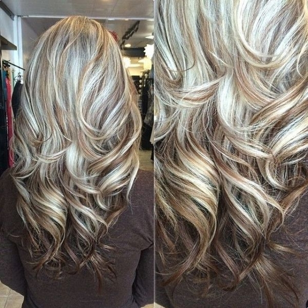 Long Light Brown Hair With Blonde Highlights Best Top Highlights Regarding White Blonde Hairstyles For Brown Base (View 18 of 25)