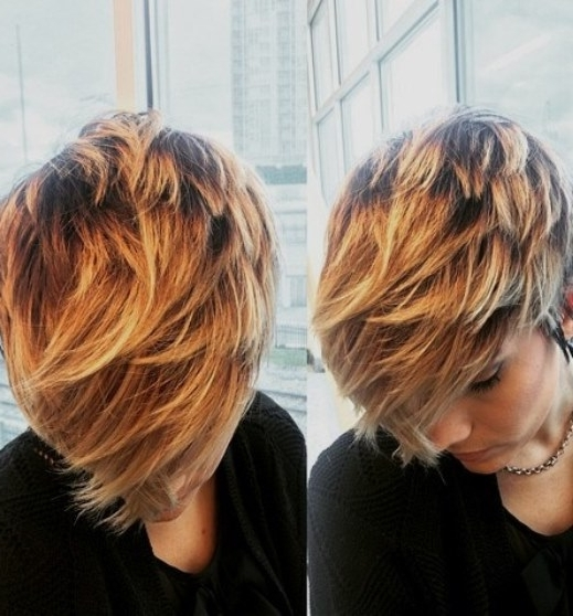 Long Pixie Balayage Short Hair Looks For Most Popular Balayage Pixie Hairstyles With Tiered Layers (View 17 of 25)