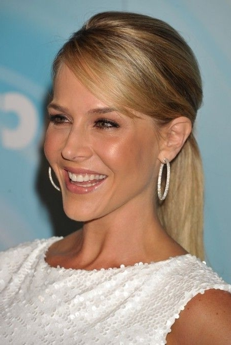 Long Sleek Ponytail Hairstyle With Side Swept Bangs   Hair Throughout Side Swept Pony Hairstyles (View 18 of 25)