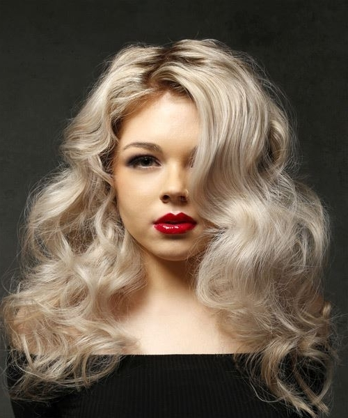 Long Wavy Casual Hairstyle – Light Blonde Hair Color With Regard To Light Ash Locks Blonde Hairstyles (View 23 of 25)