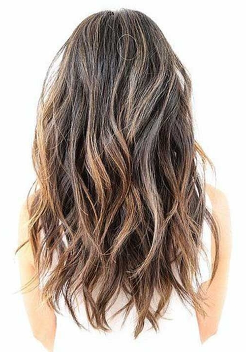 Long Wavy Medium Ash Brown Hair With A Soft Undercut And Short In Soft Layers And Side Tuck Blonde Hairstyles (View 22 of 25)