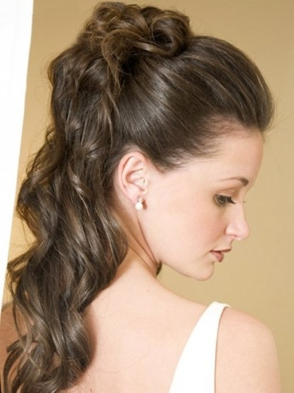Long Wavy Ponytail – Prom, Wedding, Party, Formal, Summer Throughout Brunette Prom Ponytail Hairstyles (View 17 of 25)