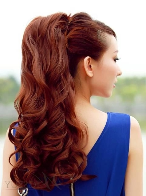 Loose Wave Bandage Style Fluffy Ponytail (View 16 of 25)