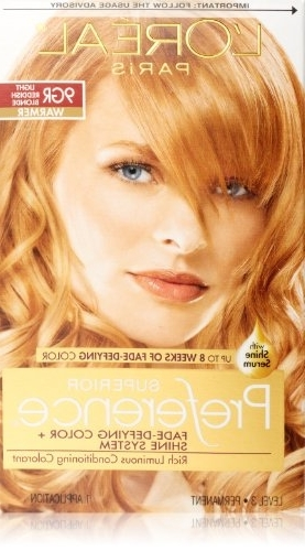 L'oréal Paris Superior Preference Permanent Hair Color, 9Gr Light Pertaining To Amber And Gold Blonde Hairstyles (View 22 of 25)