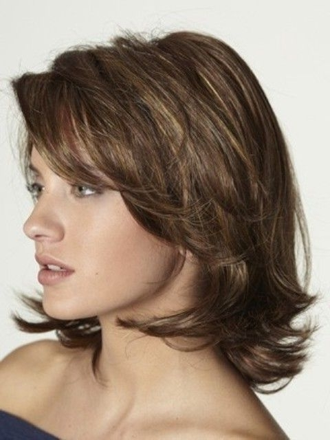 Love Layered Hair: These 17 Medium Layered Hairstyles Will Wow You Within Most Recent Brunette Pixie Hairstyles With Feathered Layers (View 22 of 25)