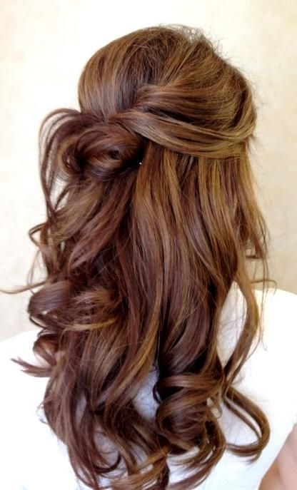 Love The Color & The Curls | The Big Day | Pinterest | Hair Style Inside Big And Bouncy Half Ponytail Hairstyles (View 11 of 25)