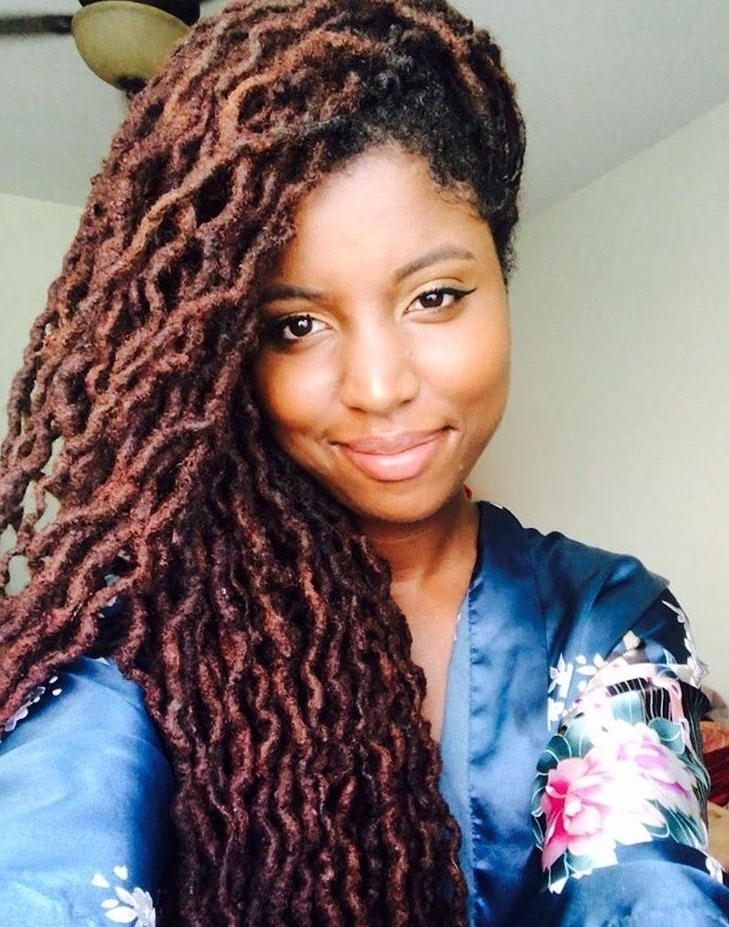 Love This Color! | Locs! | Pinterest | Locs, Dreads And Dreadlocks Pertaining To Braided Boho Locks Pony Hairstyles (View 18 of 25)