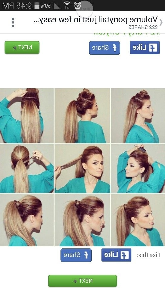 Love This | D | Pinterest | Hair Style, Easy Hairstyles And Makeup Regarding Ponytail Hairstyles With Bump (View 16 of 25)
