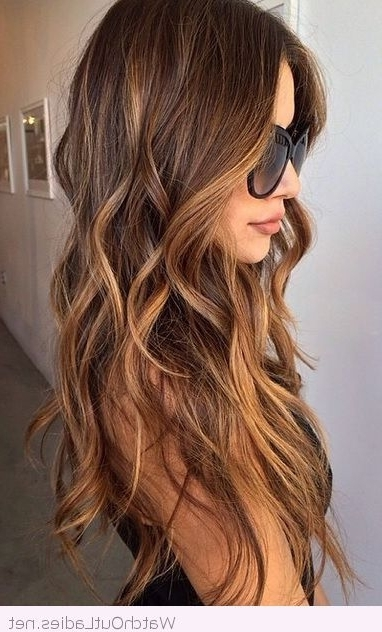 Featured Photo of Dark Locks Blonde Hairstyles With Caramel Highlights