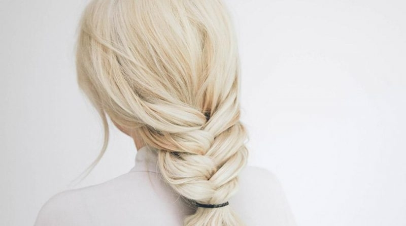 Low Chunky Fishtail Braid Hairstyle – Best Hairstyles & Haircuts For Pertaining To Chunky Ponytail Fishtail Braid Hairstyles (View 9 of 25)