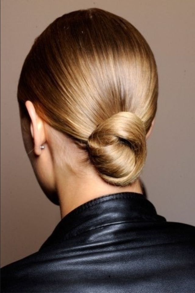 Low Hanging Knot, Smooth Polished, Elegant, Yet Simple To Do | Hair Inside Low Hanging Ponytail Hairstyles (View 8 of 25)