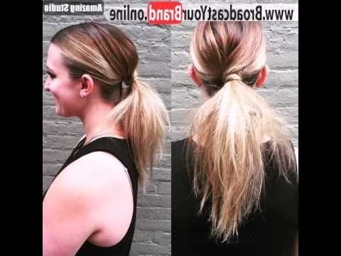 Low Twisted Pony For Ombre Hair – Youtube With Low Twisted Pony Hairstyles For Ombre Hair (View 4 of 25)