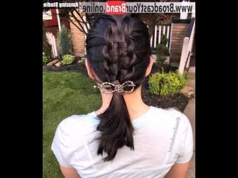 Macrame Braid With A Low Pony – Youtube Regarding Macrame Braid Hairstyles (View 10 of 25)