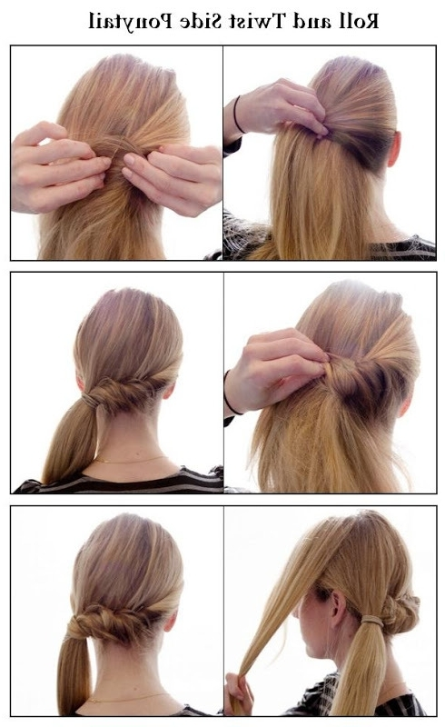 Make A Roll And Twist Side Ponytail | Hairstyles Tutorial Regarding Twisted Side Ponytail Hairstyles (View 10 of 25)
