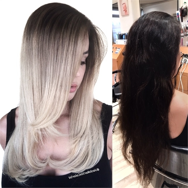 Makeover: Dark Brown To Silver Blonde Melt – Gorgeous! – Hair Color For Blonde Color Melt Hairstyles (View 22 of 25)