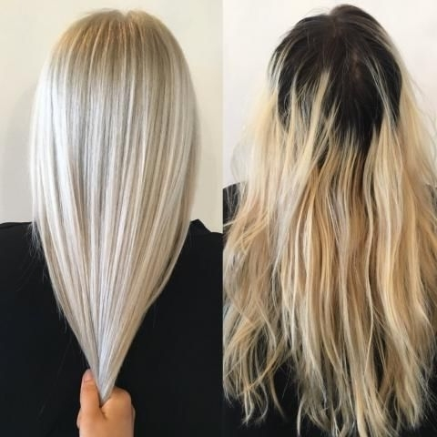 Makeover: Grown Out And Faded To Ice Blonde – Career | Blonde With Sleek Blonde Hairstyles With Grown Out Roots (View 19 of 25)