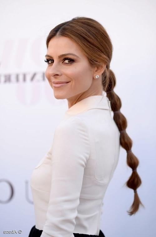 Maria Menounos' Bubble Ponytail: A Runway Trend For Real Life With Sleek Bubble Ponytail Hairstyles (View 22 of 25)