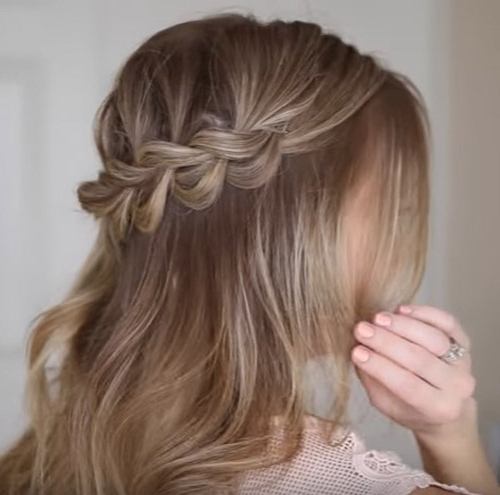 Master This Easy Half Up Bohemian Braided Hairstyle | Beauty Intended For Braided Along The Way Hairstyles (View 22 of 25)