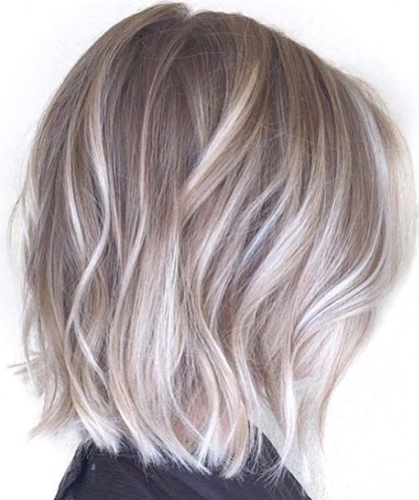 Medium Choppy Cut Ash Blonde And Silver Ombre | Hair | Pinterest With Choppy Cut Blonde Hairstyles With Bright Frame (View 11 of 25)