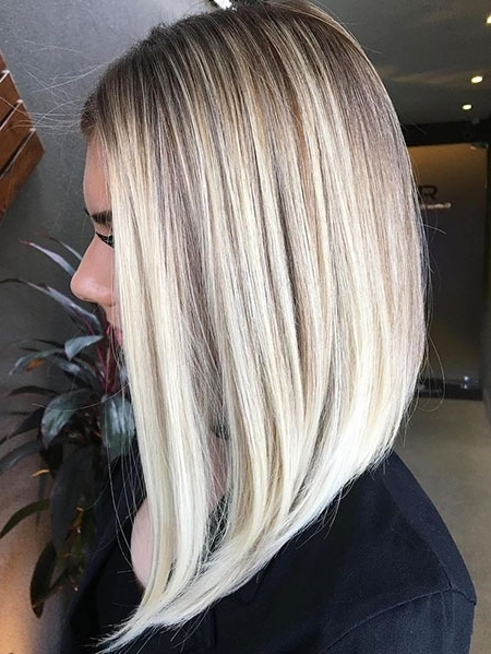 Medium Length Blonde Hairstyles – Blonde Hairstyles 2017 Within Long Bob Blonde Hairstyles With Babylights (View 22 of 25)